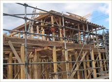昔ながらの本格木造軸組工法